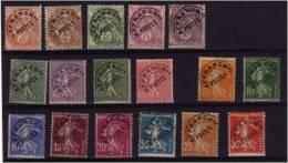 Lot 17 Préo Entre Yvt N° 39 Et 58 Sans Gomme - 1893-1947