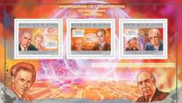 gu12504a Guinea 2012  Nobel Prize in Physics Niels Bohr Werner Heisenberg Albert Einstein s/s