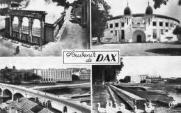 -CPSM  - 40 - DAX - Multivues - Vue Générale - Les Arènes - Fontaine D'eau Chaude - L'Adour -  160 - Dax