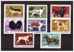 BULGARIA 1964 DOGS 8  VALUES MNH - Hunde