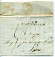 Departement Conquis De Montemotte - 108 PORT-MAURICE De 1813 - Lettre Precurseur Vers Parma - Poststempel (Briefe)