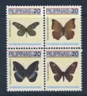 21 - PILIPINAS PHILIPINES 2006 BUTTERFLIES PAPILLON SCHMETTERLING VLINDERS MNH - Filipinas