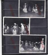 Marin Marine Nationale Escale Polynésie Tahiti Années 60 Danse Vahiné Animation Ensemble 11 Photos Format 8.3 Par 12 Cm - Guerre, Militaire
