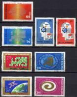 INTEREUROPA 1969-1974 Rumänien 2764/5, 2919/0, 3120/1 3189/0 O 12€ Symbolik Wissenschaft Und Kultur CEPT Sets Of Romania - Sonstige