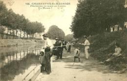 Saint Maurice.partie De Pèche Au Bord Du Canal à Charenton-Saint-Maurice. - Saint Maurice