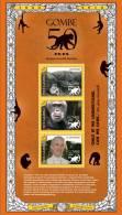 gam1132sh Gambia 2011 Gombe 50 s/s monkey Dr. Jane Goodall Chimpanzees