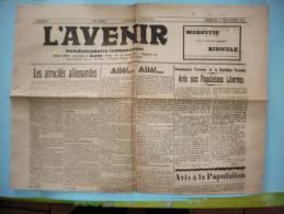 L'AVENIR GUISE AISNE NUMERO 2 DIMANCHE 17 SEPTEMBRE 1944 - Autres