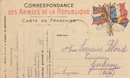 CORRESPONDANCE DES ARMEES DE LA REPUBLIQUE    // //  REF  M399 - Guerra 1914-18