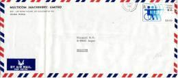 Timbre Handisport, Tir à L'arc Sur Lettre De Hong Kong Vers La Belgique Du 14/12/1982 - Handisport