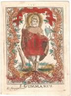 RARE - Canivet Du 18e -S.GUMMARUS De F.FRUIJTIERS (1715-1782)  - 70X95 Mm - Images Religieuses