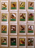 UMM AL QIWAIN Papillons +insectes + Abeille. 16 Mini Blocs Avec Bordure Blanche ** MNH Perforate - Non Classés
