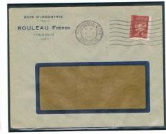 1,50 Pétain Yver 515, Seul Sur Facture De 1942, Belle Frappe De Perigueux-Gare - 1941-42 Pétain