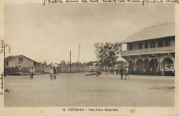 Cotonou 78 Vue D Une Factorerie Marché Gare Edit Valla Richard - Centrafricaine (République)
