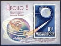 """HUNGARY 1969. BL.66. COSMOS """"Apollo 8"""" - Space"""