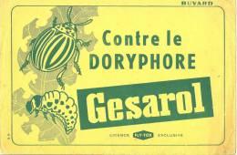 Buvard Thème Agriculture Contre Le Doryphore Gesarol  Fly Tox - Agriculture