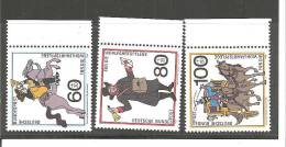 DSP2299/ BRDMi.Nr.1437-39**/ (1989) Postbeförderung, Seitenrand - BRD