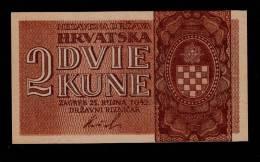 CROATIA 2 KUNA 1942 PICK # 8a AUNC - Croacia
