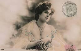 FEMMES - FRAU - LADY - Jolie Carte Fantaisie Portrait Femme Artiste - G. TALERO - Mujeres