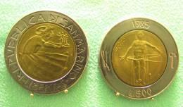 SAINT MARIN SAN MARINO BIMETAL 500 LIRE RARE 1985 - Saint-Marin
