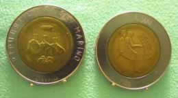 SAINT MARIN SAN MARINO BIMETAL 500 LIRE RARE 1986 - Saint-Marin