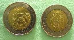 SAINT MARIN SAN MARINO BIMETAL 500 LIRE RARE 1988 - Saint-Marin