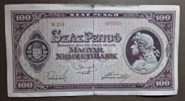 Banknote Papermoney Ungarn Magyar Gebraucht 100 Szaz Pengö 1945 - Hungary
