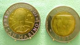 SAINT MARIN SAN MARINO BIMETAL 500 LIRE RARE 1996 HEGEL - Saint-Marin
