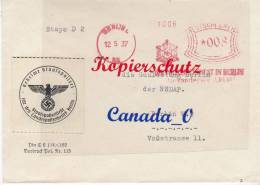 B  4  --   Gestapo Berlin N Gauleitung NSDAP Bln   12.5.1937 - Unclassified