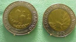 SAINT MARIN SAN MARINO BIMETAL 500 LIRE RARE 1993 - Saint-Marin