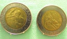SAINT MARIN SAN MARINO BIMETAL 500 LIRE RARE 1994 - Saint-Marin