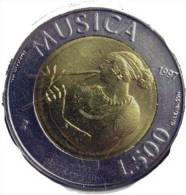 SAINT MARIN SAN MARINO BIMETAL 500 LIRE RARE 1997 MUSICA  FDC TRES RARE - Saint-Marin