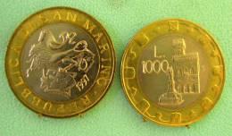 SAINT MARIN SAN MARINO BIMETAL1000 LIRE RARE 1997 - Saint-Marin