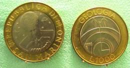 SAINT MARIN SAN MARINO BIMETAL1000 LIRE RARE 1998 - Saint-Marin