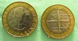 SAINT MARIN SAN MARINO BIMETAL1000 LIRE RARE 1999 - Saint-Marin