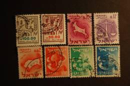 ISRAELE 8 VALORI USATI DIFFERENTI - Other