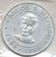 CARLOS SAUL MENEM PRESIDENTE DE LA ARGENTINA 1995-1999 MEDALLA MEDAILLE - Royal / Of Nobility