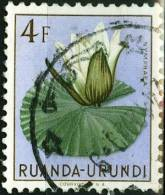 RUANDA URUNDI, 1953, FLORA, FIORI, FLOWERS, FRANCOBOLLO USATO, Scott 127, YT 190, Bel 190 - Ruanda