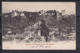 GRANADA.LA ALHAMBRA DESDE SAN NICOLAS  NO  CIRCULADA 1012 - Granada