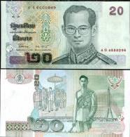THAILAND 20 BAHT ND 2003 P 109 SIGN 77 UNC - Tailandia