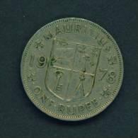 MAURITIUS - 1978 1r Circ - Mauritius