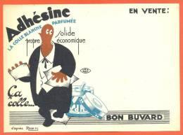 "Buvard  ""  Adhesine - La Colle Blanche Parfumee  "" - Papeterie"