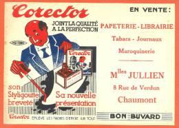 "Buvard  ""  Corector  ""  Papeterie  Jullien 8,rue De Verdun 52 Chaumont - Papeterie"