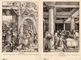 A. DÜRER - 2 CPA - La Présentation Au Temple - L' Adoration Des Rois (Epiphanie) ..    (53623) - Andere Zeichner