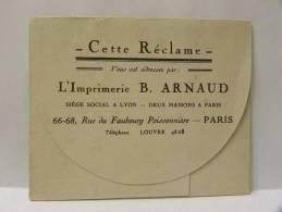 Dépliant Publicitaire, Réclame Imprimerie B. ARNAUD Paris,  Meubles DURANDET 45 Rue Piron Marseille, G Carenove - Advertising