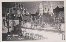 Nevada Virginia City World Famous Crystla Bar And Clock Real Pho
