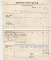 C0970 - FATTURA ALBERGO SPORTHOTEL VICTORIA GSTAAD - SVIZZERA 1964 - Fatture & Documenti Commerciali