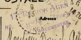 CACHET HOPITAL COMPLEMENTAIRE 9 AGEN LOT ET GARONNE - Postmark Collection (Covers)