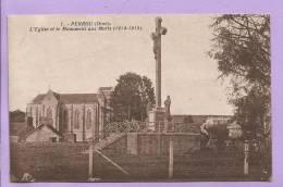 61 - PERROU - L'Eglise Et Le Monument Aux Morts Pour La France (1914-1918) - Autres Communes