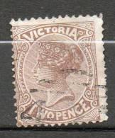 AUSTRALIE (Victoria) 2p Brun1881-83 N°76 - Used Stamps
