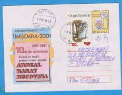 ENTIERS POSTAUX, POSTAL STATIONERY, Ardeal, Banat, Bucovina OVERPRINT STAMPS ROMANIA 2001 - Enteros Postales